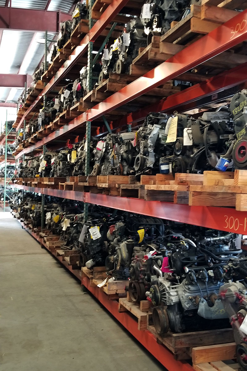 Cleaned and tested engines from Spivey's Auto Salvage